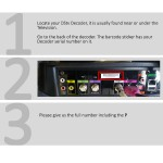 Guide Explora and HD decoder serial number